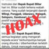 Heboh Kabar 15 Warga Blitar Positif Corona, Dinas Kominfo Kabupaten Blitar Pastikan Hoax