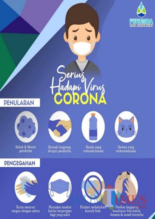 Perumda Tirta Kanjuruhan Kabupaten Malang keluarkan protokol khusus untuk pencegahan Corona di lingkungan internalnya (Perumda for MalangTimes)