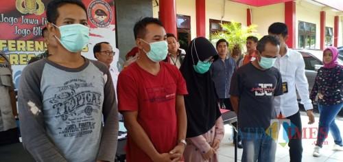 Polisi mengamankan beberapa orang penyebar hoax virus corona