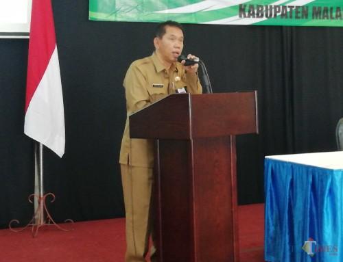 Sekda Kabupaten Malang Didik Budi Muljono berpesan agar ASN yang kerja di rumah tetap patuh pada instruksi pimpinan untuk bekerja (dd nana)