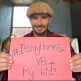 David Beckham Bagikan Pesan Manis #IStayHome di Tengah Pandemi Covid-19