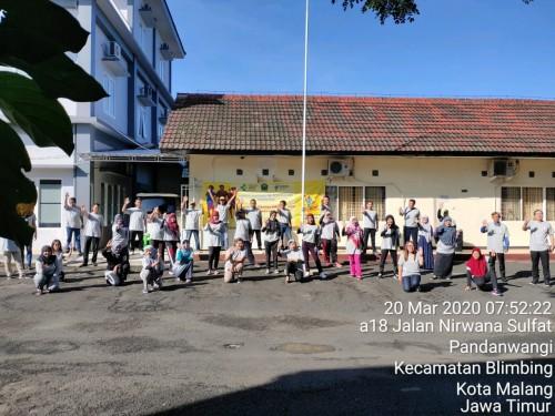 Suasana salah satu rangkaian hari TBC sedunia dari Dinkes Kota Malang. (Foto: Dokumentasi Dinkes Kota Malang)