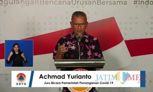 Achmad Yurianto, Juru bicara Presiden terkait persebaran virus Corona atau Covid-19 di Indonesia. (Foto: Siaran pers BNPB)
