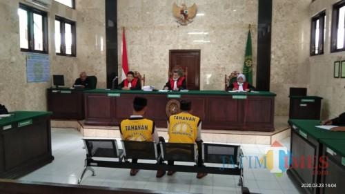 sidang putusan pembunuhan pasutri Ngingas (Joko Pramono for Jatim Times)