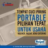 Cocok untuk Usaha Catering, Tempat Cuci Piring Portable dari Graha Bangunan Ini Bisa Dibawa Kemana Saja