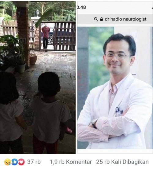 Potret dokter Hadio yang ramai diperbincangkan di media sosial dan ternyata hoax