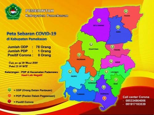 Update data satgas covid 19 Pameksan, (Foto/Ist)