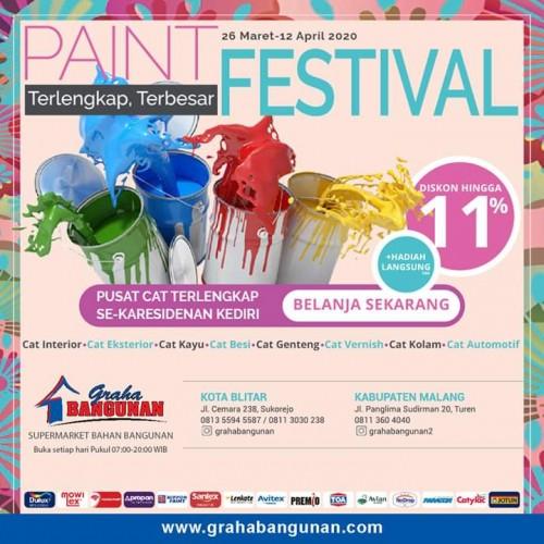 Pusat Cat Terlengkap di Eks Karesidenan Kediri, Graha Bangunan Kembali Gelar Paint Festival
