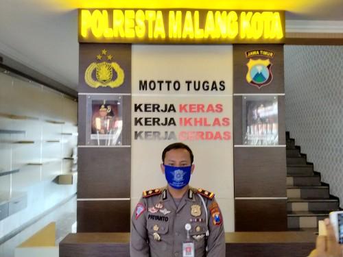 Kasatlantas Polresta Malang Kota, Kompol Priyanto (Anggara Sudiongko/MALANGTIMES)