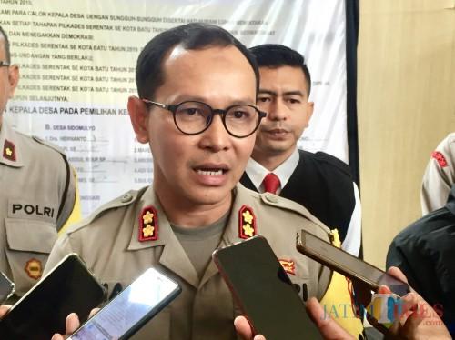 Kapolres Batu AKBP Harviadhi Agung Prathama. (Foto: Irsya Richa/MalangTIMES)