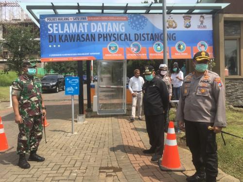 Minimalisir Penyebaran Virus Corona, Forkopimda Kabupaten Malang Ciptakan Kawasan Physical Distancing