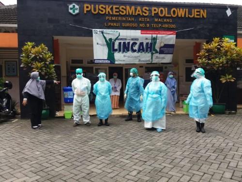 APD yang dikenakan oleh petugas medis di Puskesmas Polowijen sumbangan dari relawan di Kota Malang. (Foto: Istimewa)