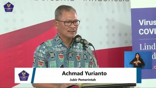 Achmad Yurianto, juru bicara pemerintah terkait persebaran covid-19 di Indonesia, Minggu (29/3/2020). (Foto: BNPB)