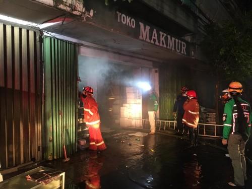 Lokasi toko stereofoam yang terbakar di kawasan Jalan Gatot Subroto (Ist)