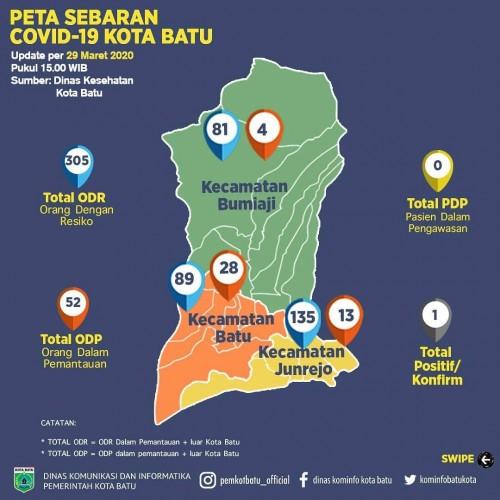 Peta Sebaran Covid-19 Kota Batu