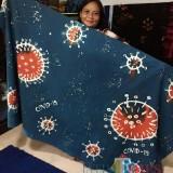 Keren, Penyandang Disabilitas di Blitar Buat Batik Motif Virus Corona untuk Kampanye Bahaya Covid-19