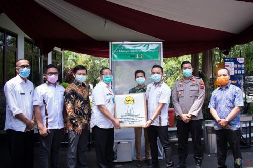 Berikan Bantuan APD dan Bilik Disinfektan, Hipmi Tulungagung Berharap Pandemi Corona Berlalu