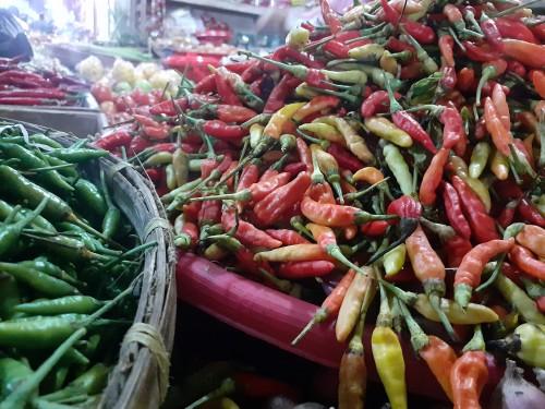 Cabai rawit salah satu bahan makanan penyumbang deflasi di Kota Malang. (Arifina Cahyanti Firdausi/MalangTIMES)