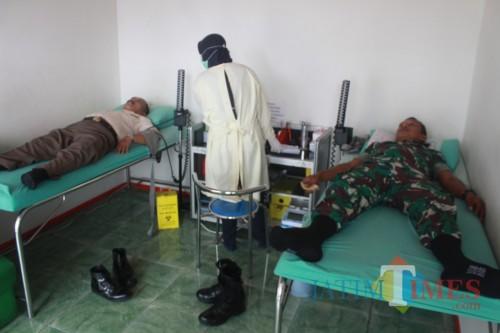 Kodim 0808/Blitar gelar baksos donor darah.(Foto : Team BlitarTIMES)