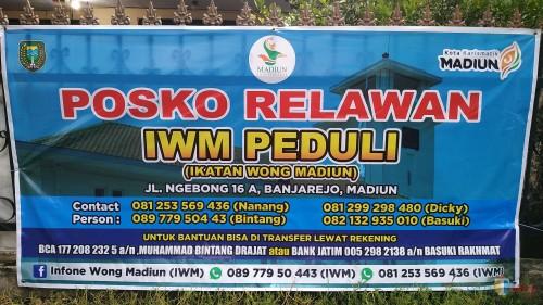 Komunitas Madiun IWM dan BNP Peduli Berantas Corona Bagikan Masker, Hand Sanitizer Gratis
