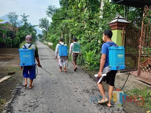 Tangkal Penularan Corona, Desa Junjung Kembali Disemprot Disinfektan