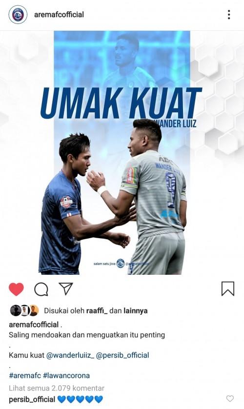 Wander Luiz Rekatkan Hubungan Arema FC dan Persib