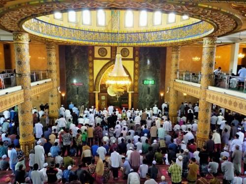 Suasana salat jumat di masjid An-Nur Kota Batu. (Foto: istimewa)