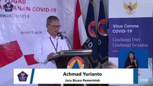 Achmad Yurianto, Juru Bicara Pemerintah terkait persebaran Covid-19 di Indonesia, saat konferensi pers di Kantor BNPB, Jakarta, Jumat (3/4/2020). (Foto: BNPB)