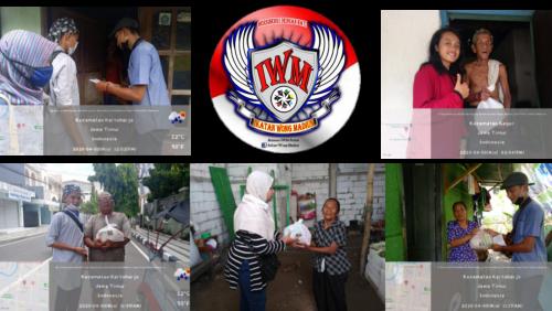 Komunitas Ikatan Wong Madiun (IWM) Bagikan Sembako Bagi Warga Terdampak Covid-19