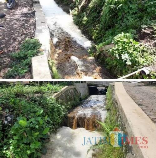 Limbah yang diduga berasal dari Greenfields lndonesia, Ngajum (dok MalangTimes)