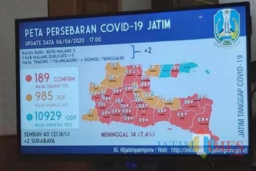 Peta terbaru titik kerawanan penyebaran Covid-19 di Jatim