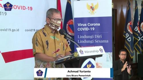 Achmad Yurianto, Juru Bicara Pemerintah terkait persebaran Covid-19 di Indonesia, Selasa (7/4/2020). (Foto: BNPB)