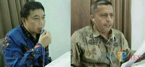Calon profesor baru UIN Malang, Dr A Sani Supriyanto SE MSi dan Dr H Salim Al Idrus MM MAg. (Foto: istimewa)
