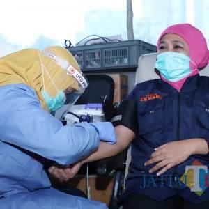 Stok Darah PMI Jatim Menipis Efek Covid-19, Gubernur Khofifah Ajak Masyarakat Tetap Donor