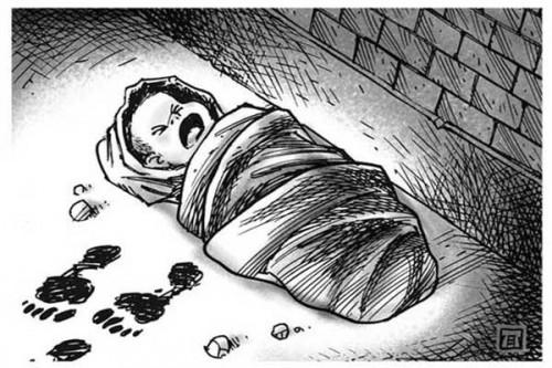 Ilustrasi pembuangan bayi (mediabanten)