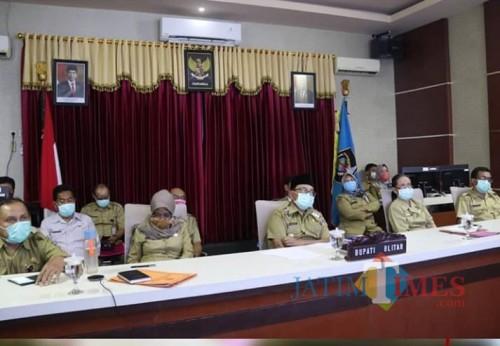 Bupati Blitar Rijanto Ikuti Vidcon Bersama Menteri Kabinet Indonesia Maju