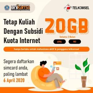 Unikama Beri Subsidi Kuota Internet 20 GB untuk 4.000 Lebih Mahasiswa