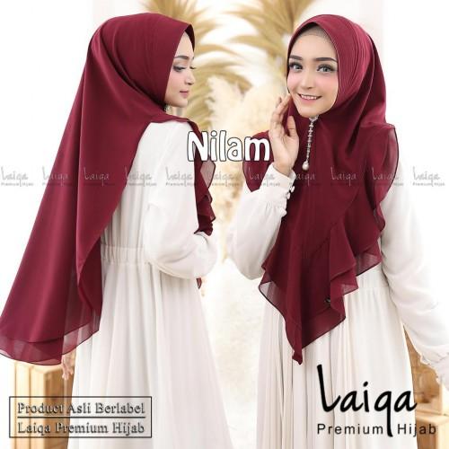 Nilam, salah satu model Laiqa Hijab Premium, brand lokal hijab asal Malang. (Foto: Dokumentasi Laiqa Hijab).
