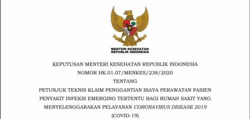 Surat Keputusan Menteri Kesehatan. (Foto: Kemenkes)