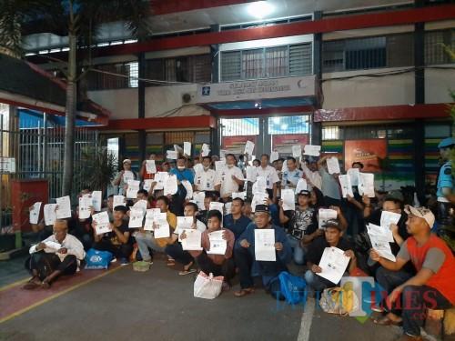 Tahanan dari kesatuan Polres Malang yang ditahan di Lapas Lowokwaru dan berhak mendapatkan asimilasi (Foto : Istimewa)