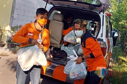 Jaga Ketahanan Tubuh Saat Hadapi Covid 19 di Kota Kediri, Si Jamal Kirim Sayuran. (Ist)