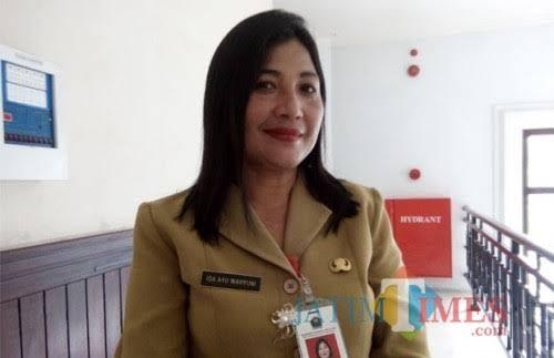 Kepala Dinas Kepemudaan Olahraga dan Pariwisata (Disporapar) Kota Malang, Ida Ayu Made Wahyuni (dokumentasi MalangTIMES).
