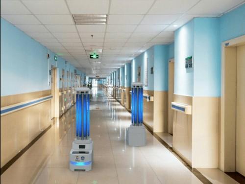 Robot AUMR pertama di Indonesia untuk sterilisasi dan disinfeksi ruang isolasi pasien covid-19. (Foto: Doc. Tel-U)