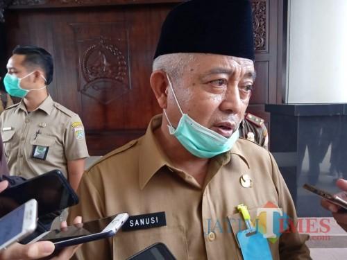 Bupati Malang HM Sanusi saat ditanya terkait kemungkinan penerapan PSBB di Kabupaten Malang.