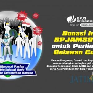 Dukung Penanganan Pandemi Covid-19, Manajemen dan Karyawan BP Jamsostek Donasikan Gajinya