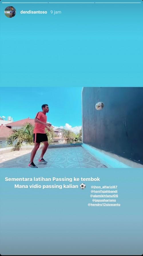 Kangen Latihan Bersama, Pemain Arema FC Bikin Challenge Lewat Story Instagram