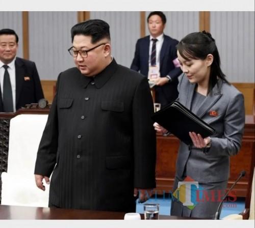 Kim Jong-un dan adik perempuannya, Kim Yo-jong.  (Foto: Getty Images)