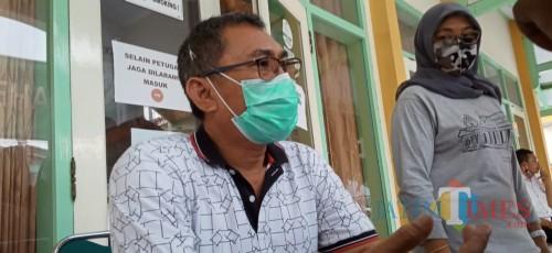 Sekretaris Posko Penanggulangan Covid19 Dinkes Tulungagung, Didik Eka (Joko Pramono for Jatim TIMES)