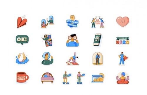 WhatsApp Rilis Stiker Tema Social Distancing (Foto: WhatsApp)