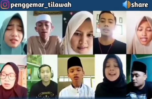 Tilawah online yang dilakukan pemuda-pemudi dari Jawa Tengah. (Instagram @penggemar_tilawah)
